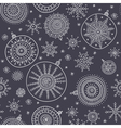 ethnic christmas baubles with snowflakes seamless vector image vector image