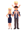 father mother and son happy family happy families vector image vector image