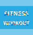 fitness workout concept training people doing vector image