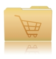 Folder with Shopping Cart vector image vector image