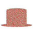 gentleman hat composition of tomato vector image