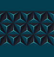geometric 3d pattern with basic shapes background vector image