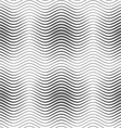 Gray wavy lines with thickenings vector image