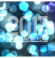 happy new year 2017 on blue bokeh circle vector image vector image