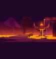 hell underground world infernal hot cave volcano vector image