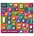home appliances flat icons vector image vector image