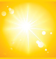hot sun vector image
