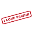 I Love Friend Text Rubber Stamp vector image vector image