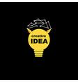 Idea bulb icon concept creative background vector image vector image
