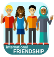 international friendship vector image vector image