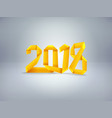 introducing the new year happy new 2018 vector image