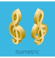 Isometric treble clef vector image vector image
