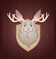 jackalope mounted cartoon character vector image