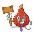 judge red kuri squash mascot cartoon vector image vector image