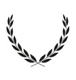 laurel wreath placed on white icon vector image vector image