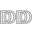 logo od do icon sign two interlaced letters o d vector image vector image
