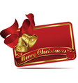 merry christmas bells web banner vector image vector image