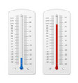 meteorology indoor thermometer realistic vector image