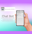 Online smart chatbot concept background