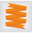 orange ribbon vector image vector image