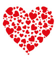 pattern of hearts isolated object vector image vector image