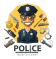 police law constabulary logo design vector image vector image