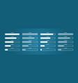 progress bar load digital status download vector image vector image