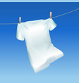 realistic detailed 3d tshirt hanging out vector image vector image