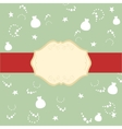 Red ribbon on the lid of the gift and the banner vector image vector image