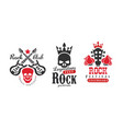 rock club logo templates set legendary rock music vector image vector image