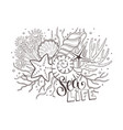 sea life composition vector image vector image
