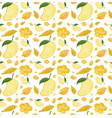 seamless background design with mango and yellow vector image
