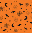 seamless halloween background pattern with vector image vector image