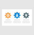 set blue and orange dark gray elements vector image vector image