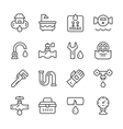 Set line icons of plumbing vector image vector image