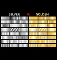 set of gold and silver gradients vector image