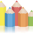 Set of original colored pencils on a white vector image vector image