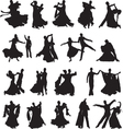 silhouettes of couples dancing ballroom dance