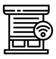 smart louver icon outline style vector image