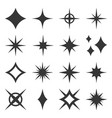 sparkles black template icons on white background vector image vector image