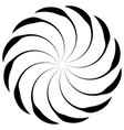 spiral shape on white curved lines rotating from vector image vector image