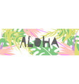 tropical collage pattern banner in hawaiian style vector image vector image