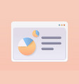 web browser window with statistical data financial vector image vector image