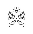 wedding doves birds icons valentines day love vector image vector image