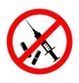 no drugs symbol vector image