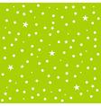 Star Polka Dot Green Background vector image