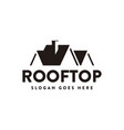 abstract house roff logo rooftop icon vector image
