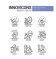 beauty salon - line design style icons set vector image