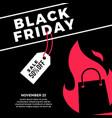 black friday sale social media post flat of vector image
