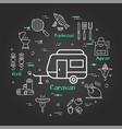 black linear banner car travel caravan
